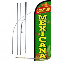 Comida Mexicana Extra Wide Windless Swooper Flag Bundle