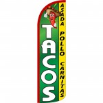 Tacos Extra Wide Windless Swooper Flag