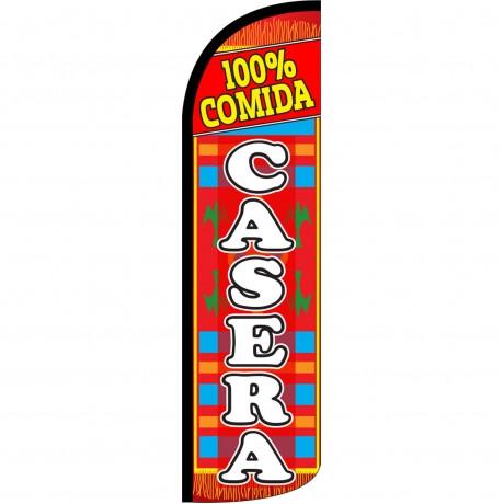 100% Comida Casera Extra Wide Windless Swooper Flag