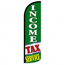 Income Tax Service G/W Extra Wide Windless Swooper Flag