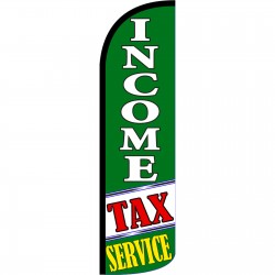 Income Tax Service Green Extra Wide Windless Swooper Flag