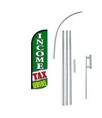Income Tax Service G/W Extra Wide Windless Swooper Flag Bundle