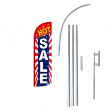 Hot Sale Extra Wide Windless Swooper Flag Bundle