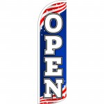 Open USA Extra Wide Windless Swooper Flag