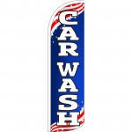 Car Wash USA Extra Wide Windless Swooper Flag