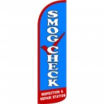 Smog Check Extra Wide Windless Swooper Flag
