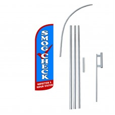 Smog Check Extra Wide Windless Swooper Flag Bundle