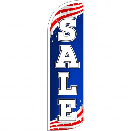 Sale Patriotic Extra Wide Windless Swooper Flag