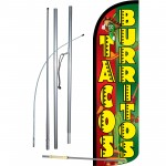 Tacos/Burritos Extra Wide Windless Swooper Flag Bundle