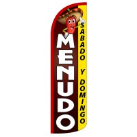 Menudo Extra Wide Windless Swooper Flag