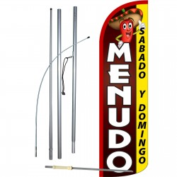 Menudo Extra Wide Windless Swooper Flag Bundle