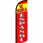 Se Habla Espanol Extra Wide Windless Swooper Flag