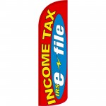 Income Tax IRS E-File Extra Wide Windless Swooper Flag
