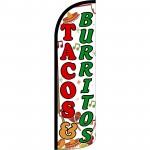 Tacos & Burritos Extra Wide Windless Swooper Flag