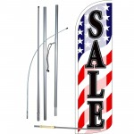 Sale USA Extra Wide Windless Swooper Flag Bundle