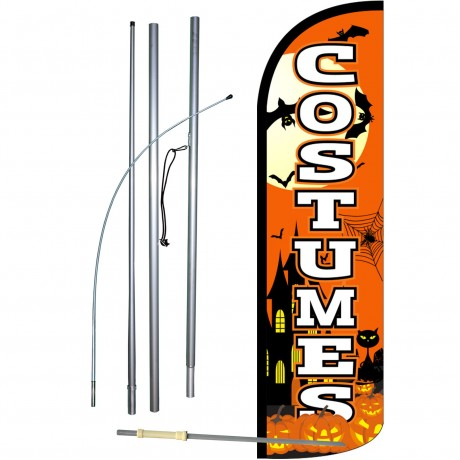 Costumes Extra Wide Windless Swooper Flag Bundle