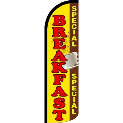 Breakfast Special Extra Wide Windless Swooper Flag