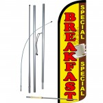 Breakfast Special Extra Wide Windless Swooper Flag Bundle