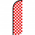 Checkered Red & White Extra Wide Windless Swooper Flag