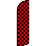 Checkered Black & Red Extra Wide Windless Swooper Flag