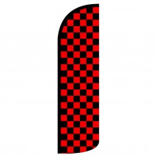 Black & Red Checkered Extra Wide Windless Swooper Flag