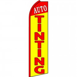 Auto Tinting Yellow Extra Wide Swooper Flag