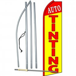 Auto Tinting Yellow Extra Wide Swooper Flag Bundle