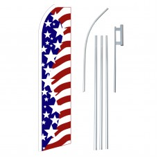 USA Big Stars Swooper Flag Bundle