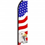 USA Eagle Right Swooper Flag