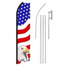 USA Eagle Right Swooper Flag Bundle