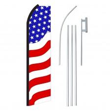 USA Wavy Swooper Flag Bundle