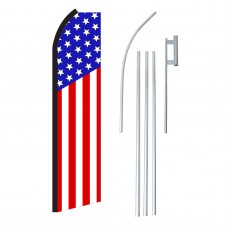 USA Vertical Swooper Flag Bundle