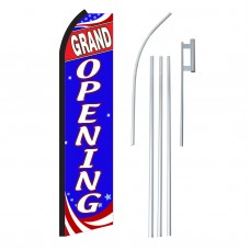 Grand Opening Red, White & Blue Swooper Flag Bundle