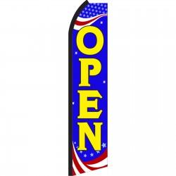 Open Blue Patriotic Swooper Flag