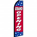 Grand Opening Red Stars Swooper Flag