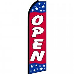 Open Red Stars Swooper Flag