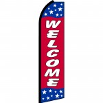 Welcome Red Stars Swooper Flag