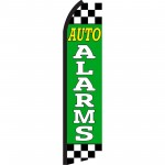 Auto Alarms Green Checkered Swooper Flag