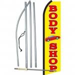 Body Shop Yellow Swooper Flag Bundle