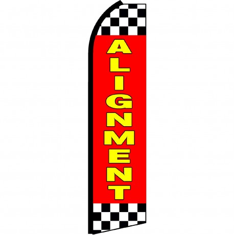 Alignment Red Checkered Swooper Flag