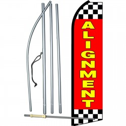 Alignment Red Checkered Swooper Flag Bundle