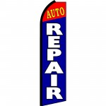 Auto Repair Blue Red Swooper Flag