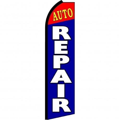 Auto Repair Blue Red Swooper Flag