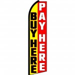 Buy Here Pay Here Swooper Flag