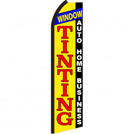 Window Tinting Auto Home Business Swooper Flag