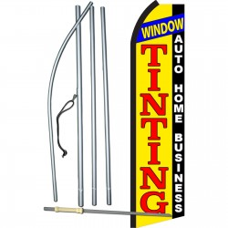 Window Tinting Auto Home Business Swooper Flag Bundle
