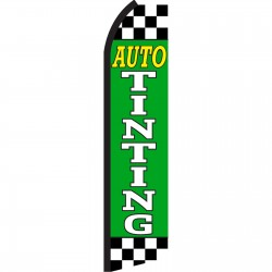 Auto Tinting Green Checkered Swooper Flag