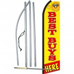 Best Buys Here Yellow Swooper Flag Bundle