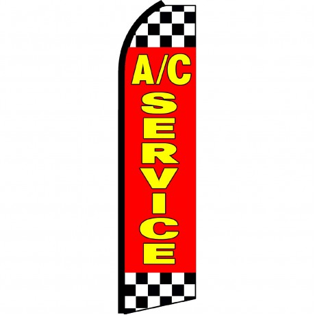 A/C Service Red Checkered Swooper Flag