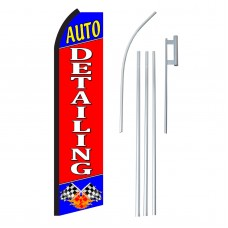Auto Detailing Swooper Flag Bundle
